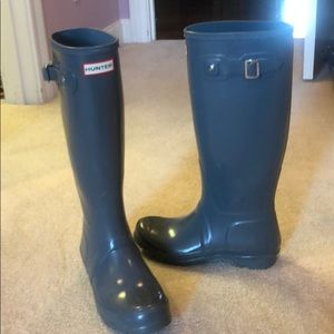 Hunter Shoes - Tall Glossy Hunter Rain Boots